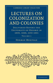 Lectures on Colonization and Colonies