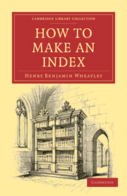 How to Make an Index