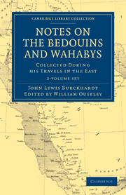 Notes on the Bedouins and Wahabys