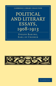 Political and Literary Essays, 1908–1913