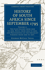 History of South Africa since September 1795