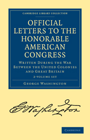 Official Letters to the Honorable American Congress