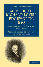 Memoirs of Richard Lovell Edgeworth, Esq