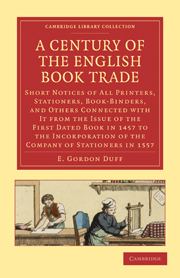 A Century of the English Book Trade