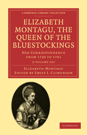 Elizabeth Montagu, the Queen of the Bluestockings