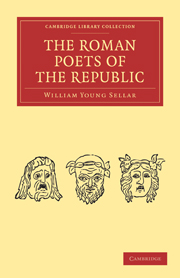 The Roman Poets of the Republic