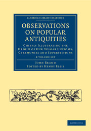 Observations on Popular Antiquities
