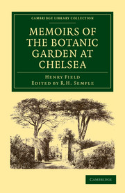 Memoirs of the Botanic Garden at Chelsea