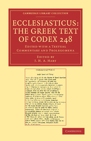 Ecclesiasticus: The Greek Text of Codex 248