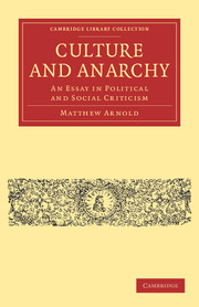 culture and anarchy essay political and social criticism english  culture and anarchy an essay in political and social criticism