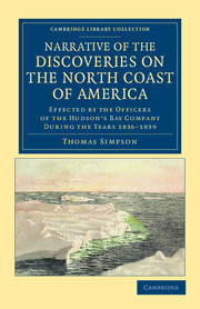 Narrative of the Discoveries on the North Coast of America