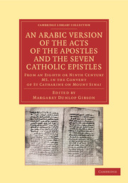 An Arabic Version of the Acts of the Apostles and the Seven Catholic Epistles