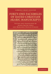 Forty-One Facsimiles of Dated Christian Arabic Manuscripts