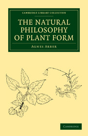The Natural Philosophy of Plant Form