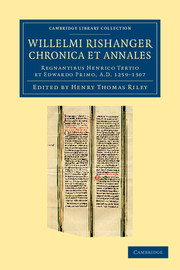 Willelmi Rishanger chronica et annales