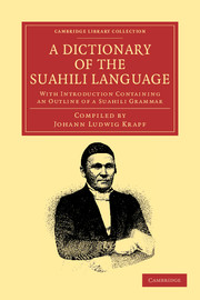 A Dictionary of the Suahili Language