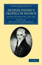 Arthur Young's Travels in France