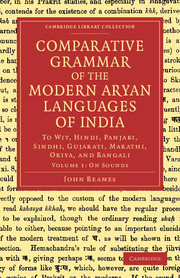Comparative Grammar of the Modern Aryan Languages of India