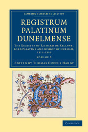 Registrum Palatinum Dunelmense