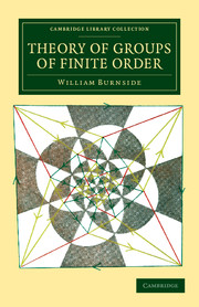 Theory of Groups of Finite Order