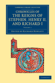 Chronicles of the Reigns of Stephen, Henry II, and Richard I