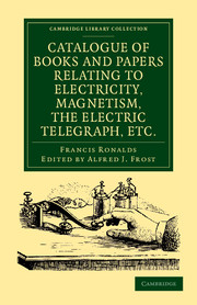 Catalogue of Books and Papers Relating to Electricity, Magnetism, the Electric Telegraph, etc