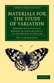 Materials for the Study of Variation