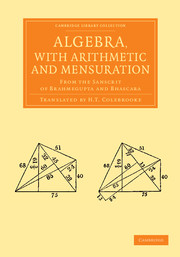 Algebra, with Arithmetic and Mensuration