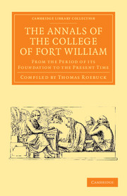 The Annals of the College of Fort William