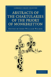 Abstracts of the Chartularies of the Priory of Monkbretton