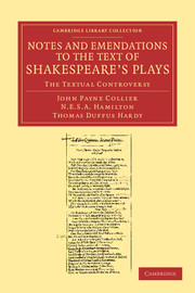 Notes and Emendations to the Text of Shakespeare's Plays