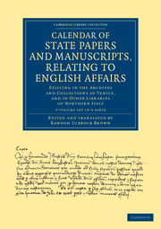 Calendar of State Papers and Manuscripts, Relating to English Affairs