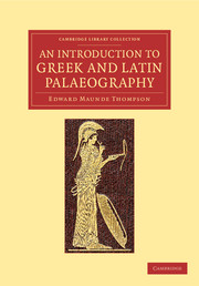 An introduction to Greek and Latin palaeography cover