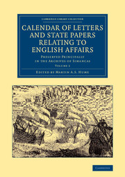Calendar of Letters and State Papers Relating to English Affairs