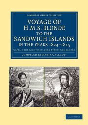 Voyage of HMS Blonde to the Sandwich Islands, in the Years 1824–1825