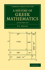 A History of Greek Mathematics