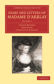 Diary and Letters of Madame d'Arblay