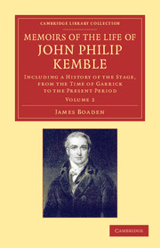 Memoirs of the Life of John Philip Kemble, Esq.