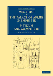 Memphis I, The Palace of Apries (Memphis II), Meydum and Memphis III