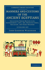 Manners and Customs of the Ancient Egyptians