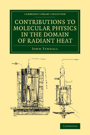 Contributions to Molecular Physics in the Domain of Radiant Heat