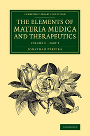 The Elements of Materia Medica and Therapeutics