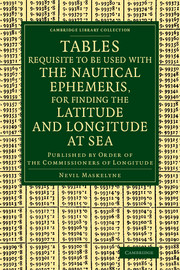 Tables Requisite to Be Used with the Nautical Ephemeris, for Finding the Latitude and Longitude at Sea