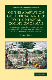 On the Adaptation of External Nature to the Physical Condition of Man