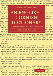 An English–Cornish Dictionary