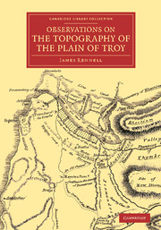 Observations on the Topography of the Plain of Troy