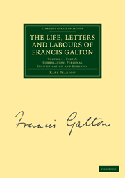 The Life, Letters and Labours of Francis Galton