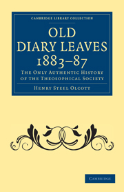 Old Diary Leaves 1883–7