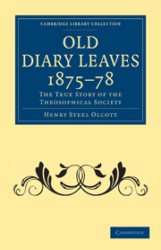 Old Diary Leaves 1875–8