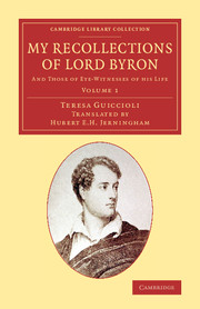 My Recollections of Lord Byron